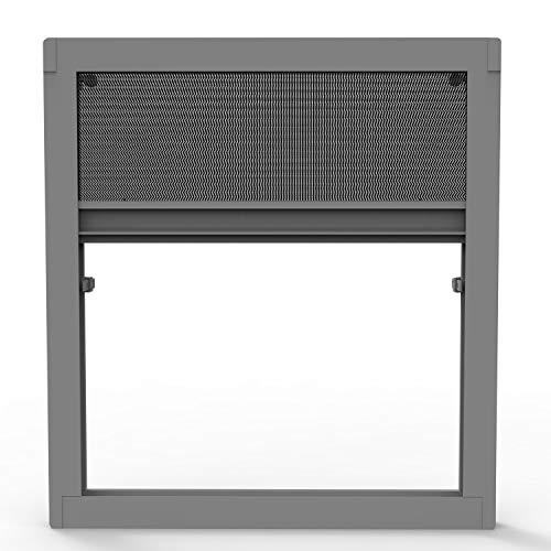 Fliegengitter Plissee ohne Bohren für Fenster und Dachfenster - Insektenschutz Dachfensterplissee Moskitonetz Mückengitter Fenstergitter Fliegenschutz (anthrazit)