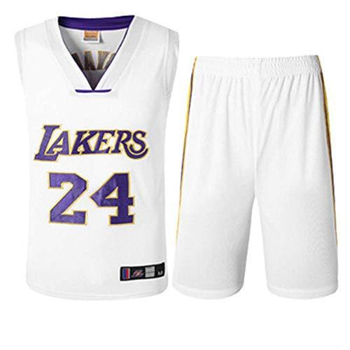CYY NBA Lakers Kobe 24, Lakers Rundhals Kobe Bryant 24 bestickte Trikot Basketball Anzug Basketball Training, Laufen, Fitness-Training