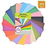 Seidenpapier 300 Blatt A4 - bunt 20 Farben, 16 g/qm transparentpapier bunt, buntes papier a4,...