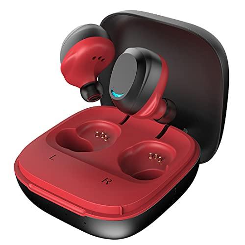 Auriculares inalámbricos, Auriculares inalámbricos con micrófono, Bluetooth 5.0 en la oreja con estuche de carga, Auriculares Bluetooth IPX5 a prueba de agua, Estéreo HI-FI, para trabajo / deporte