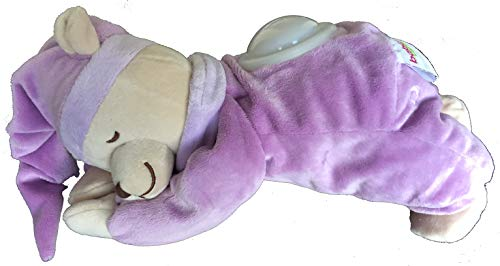 doodoo 0132 einschlaf oso con luz nocturna, púrpura