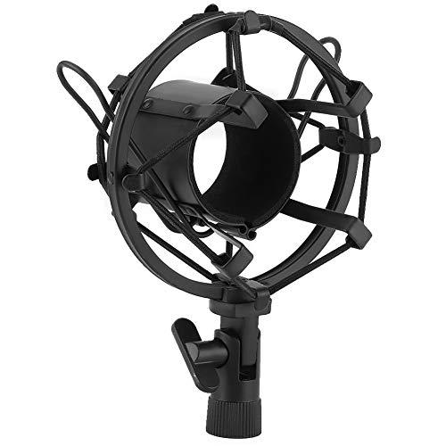 Soporte de choque negro, con choque de micrófono de plástico y metal Boseen para grabación de estudio de micrófono con condensador de 43-50 mm de diámetro