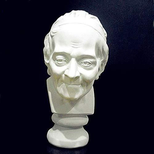 LEV Statues & Sculptures - Voltaire Head Portraits Bust Francois-Marie arouet Statue Home Decoration Resin craftwork Sketch Practice l1237 - by 1 PCs