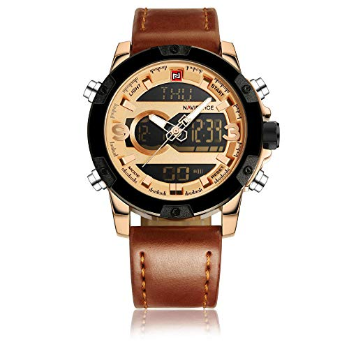 Reloj para Hombre con Pantalla analógica y Correa de Piel B