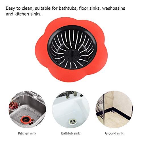 Macabolo Bloem Vorm Badkamer Keuken Afvoer Spoelbak Filter Afvoer Beschermer Haarvanger Stopper voor Badkamer Keuken