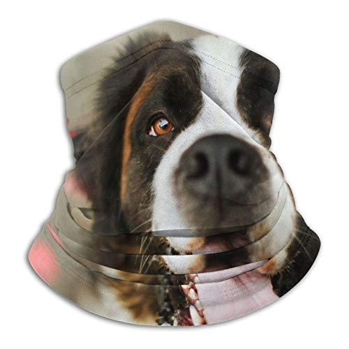 Towel&bag Niedliche Hunde-Schal Maske für den Winter, für kaltes Wetter, Schwarz