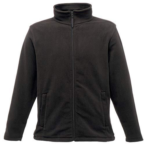 Regatta Herren Mikrofleece-Jacke mit durchgehendem Reißverschluss (4XL) (Schwarz)