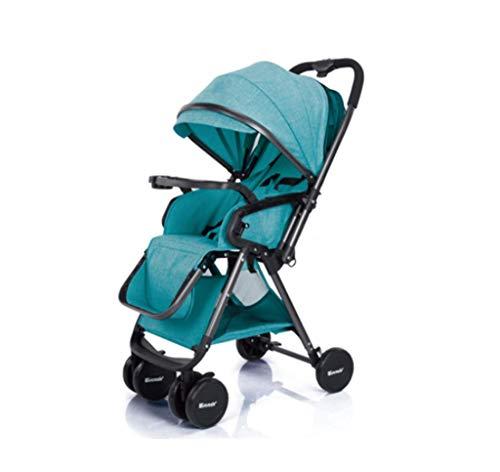 Baby kinderwagen - Twee-weg hoog landschap kan zitten en Recline Ultra-Licht Draagbare vouwwagen, met één hand en een tweede vouwen D