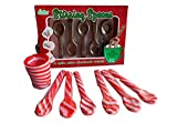Candy Cane Spoon Bundle - 6 Peppermint Flavored Edible Peppermint Spoons, 5 Milk Chocolate Spoons and Candy Cane Cup - Individually Wrapped