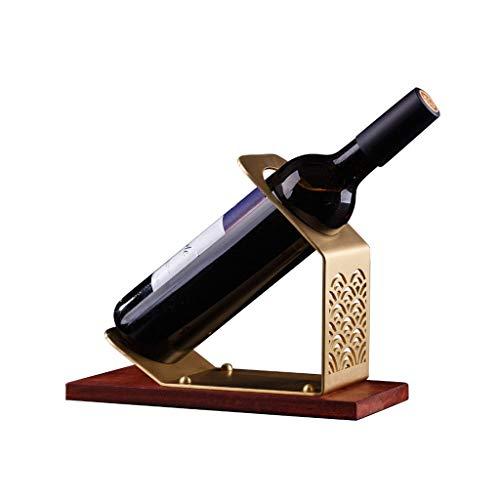Yuanjiashop Portavini Wine Rack Moderna Minimalista in Ottone Creativo High-End Vino Rack Ornamenti Decorazioni for la casa for Cabinet Portabottiglie da Tavolo