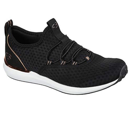 Concept 3 by Skechers Women's Alexxi Fashion Slip-on Sneaker, Black/Rose Gold, 7 Medium US
