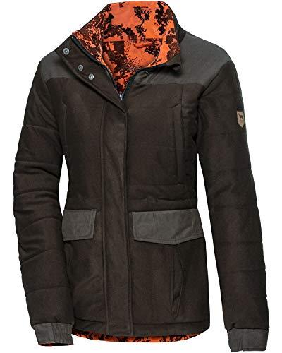 PARFORCE Damen Winter-Wendejacke Huntex® Braun/Signalcamo XL
