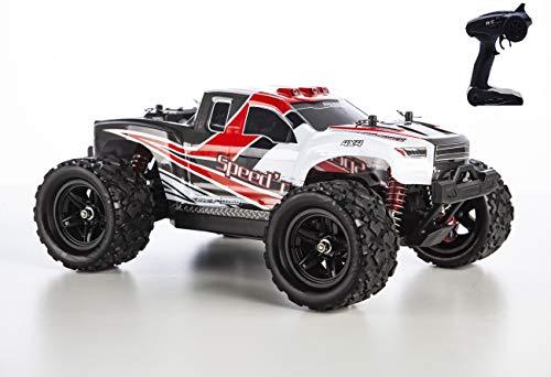 blij´r Speed´r in Rot ferngesteuertes RC Auto 45 km/h, 1:18, 2 Akkus, 4x4 Allrad, 100m Reichweite, Monstertruck RTR