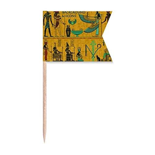 """Beauty Gift Antikes Ã""""gypten Pharaoh Kunstmuster Markierung für die Kennzeichnung von Zahnstocher-Flaggen"""