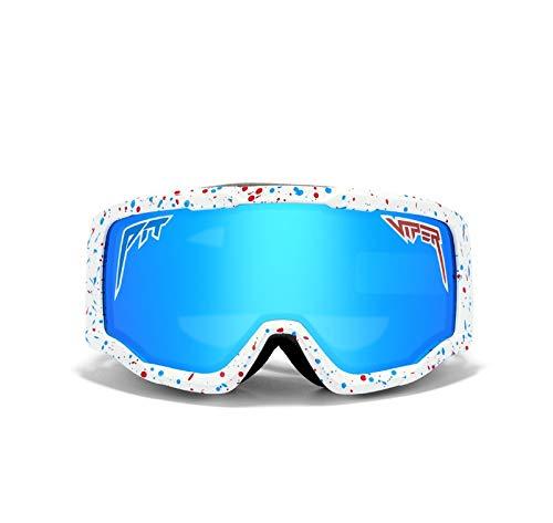 MNBGHJ Pit Viper Gafas de sol polarizadas de doble ancho con Lente Tr90 Marco Uv400 Protección Ciclismo Gafas de sol deportivas
