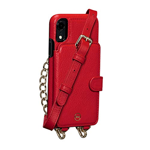 Sena Kyla Crossbody Snap On Cell Phone Case for iPhone X, XS - Wireless Charging Compatible, Red