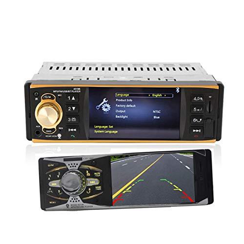 1 DIN Radio per Auto 4019B Audio Stereo USB AUX FM Stazione Radio Bluetooth Lettore MP3 con Telecomando per Telecamera retrovisiva