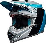 BELL MOTO-9 FLEX DIVISION HELMET M/G WHITE/BLACK/BLUE XS
