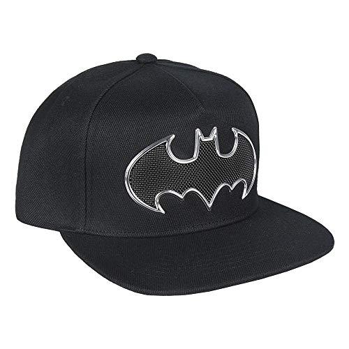 Artesania Cerda Jungen Gorra Visera Plana Black Batman Schirmmütze, Schwarz (Negro Negro), Medium (Herstellergröße: 59)