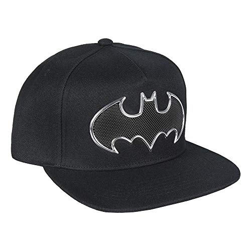 ARTESANIA CERDA Gorra Visera Plana Black Batman, Negro (Negro Negro), M (Tamaño del Fabricante:59) para Niños