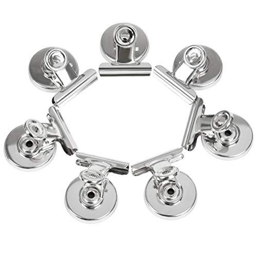 20 Stück Briefklemmer Metall Superstarke Magnetclips & Kühlschrank-Magnete mit Klammer - Clips für Kühlschrank, Magnet-Pinnwand, Büro, Küche, Zuhause & Tafel