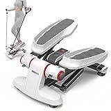 PROIRON Stepper con Pantalla Multifuncional y Cintas de Entrenamiento-Máquina de Step para Hacer Ejercicio de gluteos y Cardio