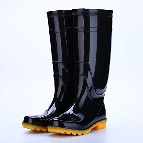 lonfenner Stivali di Gomma,Reason Hight-Top Men Boots Rain Boots Warm Soft Comfortable Wear-Resistant Anti-Slip Work Site for The Safety of The Work,39 SHO in Plastic