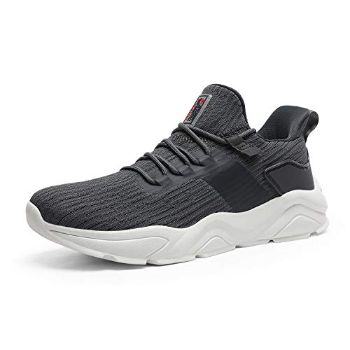 DREAM PAIRS Men's Dark Grey Running Tennis Shoes Mesh Lightweight Breathable Sneakers Size 10 M US Breathe-2