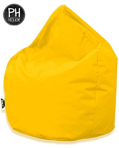 Patchhome Sitzsack Tropfenform - Gelb für In & Outdoor XL 300 Liter - mit Styropor Füllung in 25 versch. Farben und 3 Größen