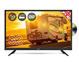 Cello 12 volt 32' C32F Traveller LED TV with DVD and Satellite Made in the UK
