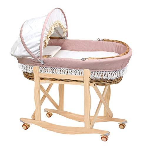 Rotan wieg en baby beddengoed en beddengoed: pads, lakens en kussens, draagbare babybedjes, babybedjes die in de auto kunnen worden gedragen