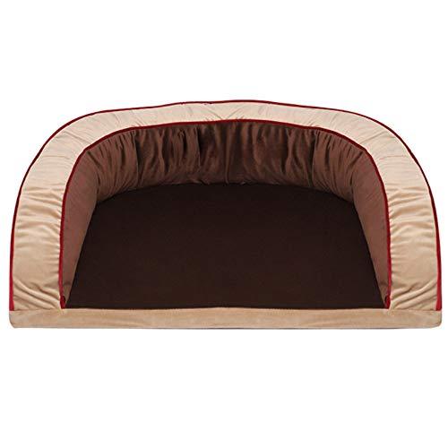 HYFDGV Dog Bed, Pet Bed, Puppy Sofa With Reversible Cushion, Dog Basket Machine Washable Dog Mattress for Medium Large Dog,Brown,s