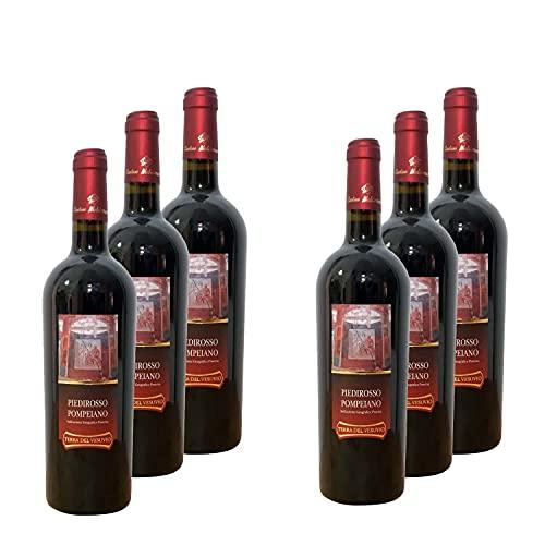 Pompeiano IGP - 12% alc. vol. - 6 botellas de 750 ml. - Vino tinto - Cantine Mediterranee