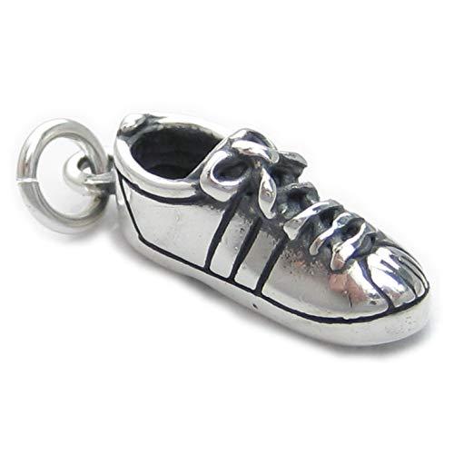 Zapatos de tenis de plata de ley 925 para pulsera. 1 x...