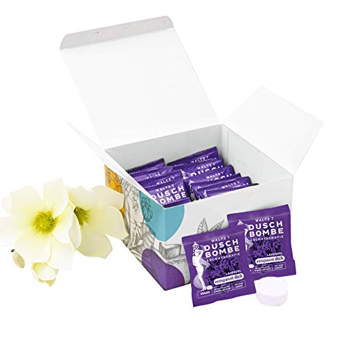 WALTZ7 Entspannungs-Box, Aromatherapie Set mit Lavendel Duschbomben, natürlicher Lavendelduft gegen Schlaflosigkeit und Stress, Geschenkidee