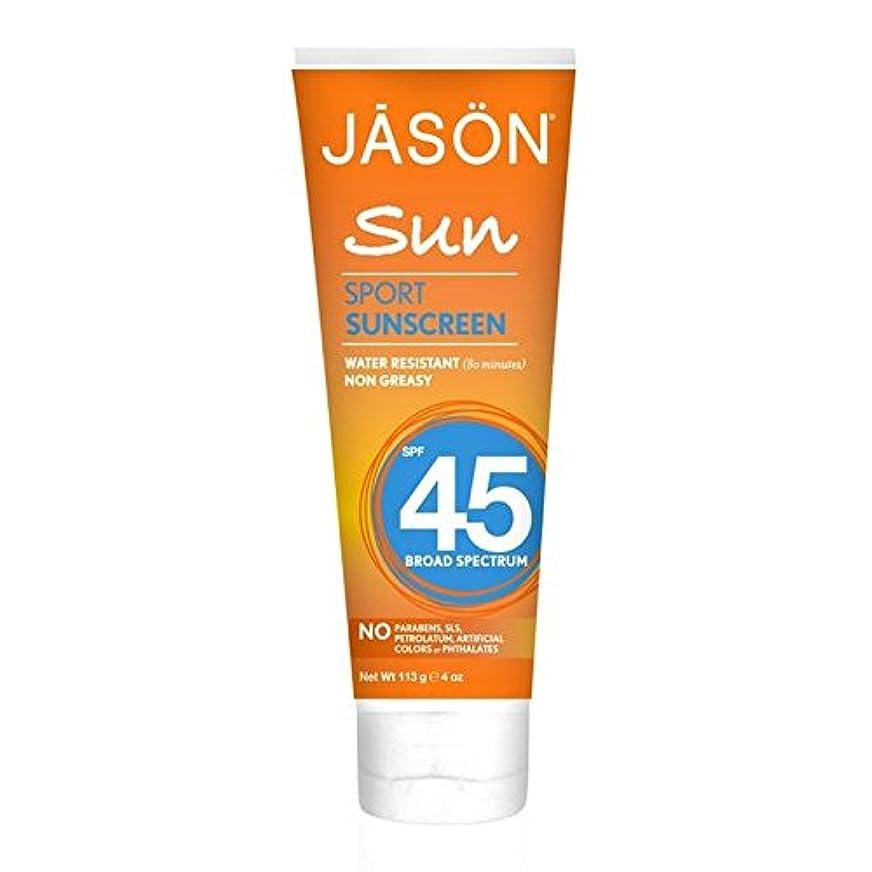 花瓶銃麺ジェイソン?スポーツ日焼け止め45の113グラム x2 - Jason Sport Sunblock SPF45 113g (Pack of 2) [並行輸入品]