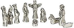 professional Christmas set miniature tin figure velvet bag set of 10