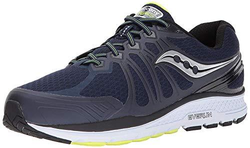 Saucony Men's Echelon 6 Running Shoe, Navy Citron, 9 M US