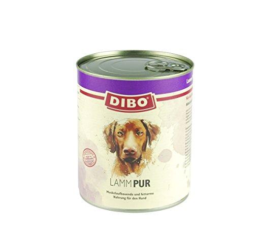 DIBO – PUR LAMM, 800g-Dose, reine Fleischdosen aus frischem und natürlichem Fleisch! DIBO-Qualität