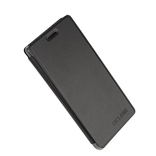 Tasche für Vernee Apollo Hülle, Ycloud PU Ledertasche Metal Smartphone Flip Cover Case Handyhülle mit Stand Function Schwarz