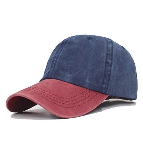 GMZXX Baseballmuts, merk mode, mutsen voor heren, dames, vader, muts, vintage, rood, marineblauw
