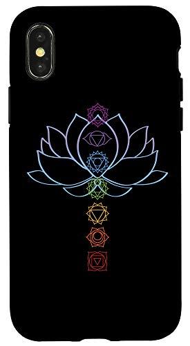 iPhone X/XS Spiritual Gift Zen Lotus Flower Chakras Aligned Yoga Lover Case