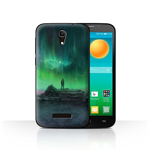 Stuff4 telefoonhoesje voor Alcatel Pop S7 Alien World Cosmos Aurora ontwerp transparante harde hoes