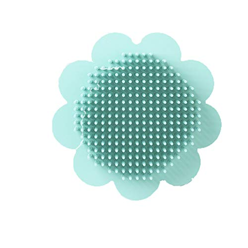 Cepillo De Silicona Para Champú Para Eliminar La Caspa, Baño Para Recién Nacidos, Champú De Algodón Para Bebés 11 * 11Cm Verde