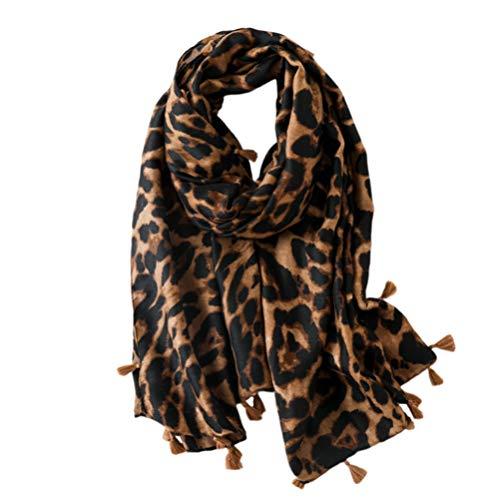 VALICLUD Mode Schals für Frauen Decke Schal Übergroße Leoparden Bedruckte Schal Animal Print Schal Wrap