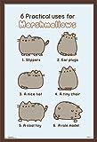 Trends International Pusheen - Marshmallow Wall Poster, 22.375' x 34', Mahogany Framed Version