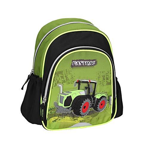 Kinderrugzak kleuterschool rugzak kleuterschooltas wandelrugzak met tractor motief met gewatteerde en in hoogte verstelbare draagriemen