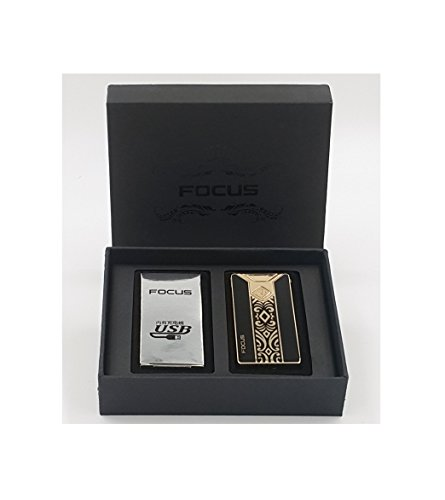 Focus Focus USB elektronisches Feuerzeug mit Lichtbogen in 5 Farben erhältlich (Elegant)