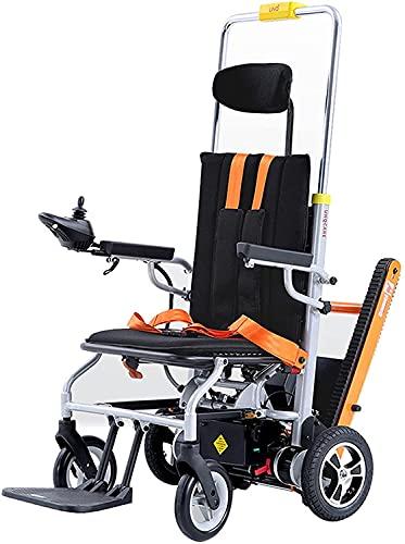 Silla de Ruedas eléctrica Escalera automática Escalador Crawler Escalador Portátil Plegable Scooter de Cuatro Ruedas para Ancianos y discapacitados