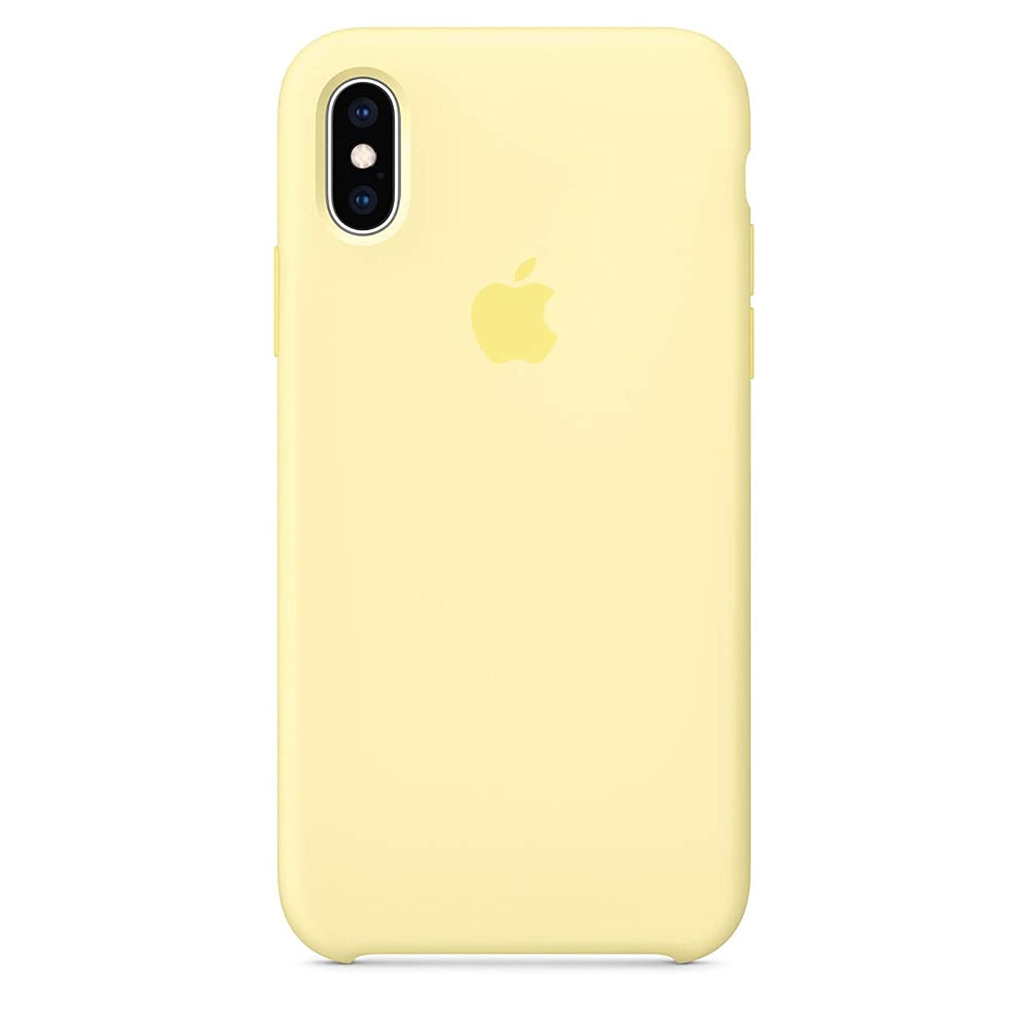 Dawsofl Soft Silicone Case Cover for Apple iPhone Xs Max 2018 (6.5inch) Boxed- Retail Packaging (Mellow Yellow)
